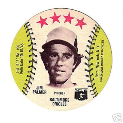 Jim Palmer Baltimore Orioles 1976 MSA disc