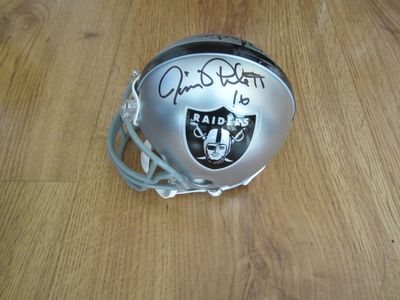Jim Plunkett and Rod Martin autographed Oakland Raiders mini helmet