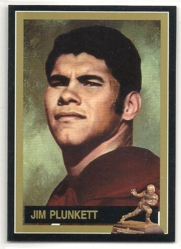 Jim Plunkett Stanford Cardinal 1970 Heisman Trophy winner card