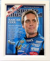 Jimmie Johnson autographed 2008 Sports Illustrated cover 11x14 print framed