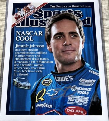 Jimmie Johnson autographed 2008 Sports Illustrated cover 11x14 print