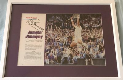 Jimmy Connors autographed 1982 Wimbledon Champion Sports Illustrated photo spread matted and framed