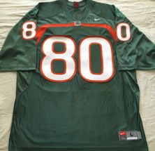 Jimmy Graham Miami Hurricanes 2009 authentic Nike double stitched green #80 jersey NEW