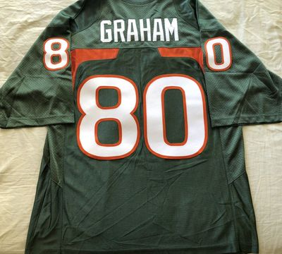 Jimmy Graham Miami Hurricanes 2009 authentic Nike stitched green jersey NEW