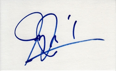Jimmy Jam Harris autographed index card