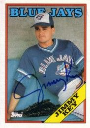 Jimmy Key autographed Toronto Blue Jays 1988 Topps card