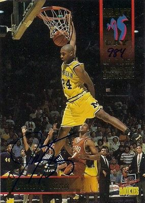Jimmy King certified autograph Michigan Wolverines Fab Five 1995 Signature Rookies card