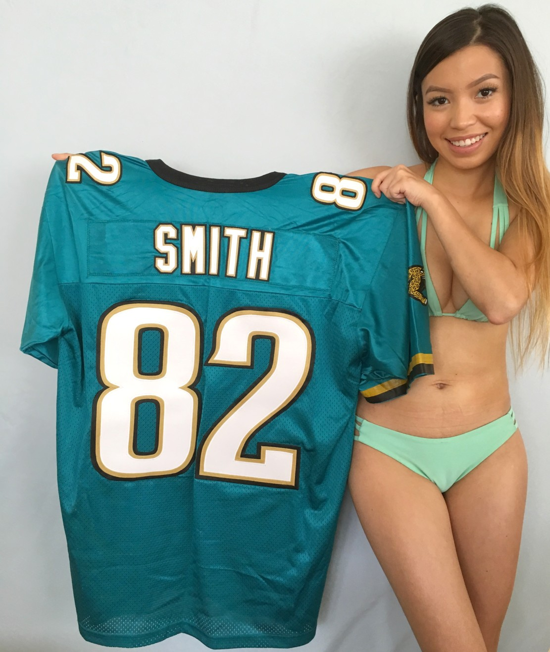Jimmy Smith Jacksonville Jaguars authentic Nike triple stitched teal jersey NEW