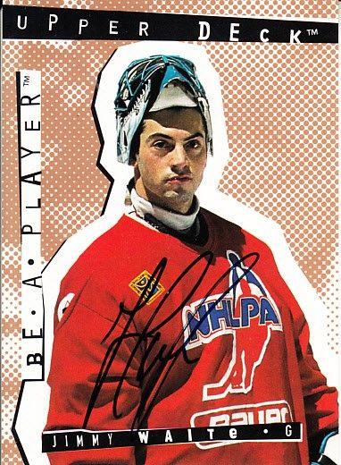 Jimmy Waite certified autograph 1995 Be A Player card