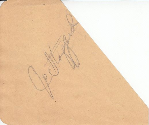 Jo Stafford autographed autograph album or book page (cut signature)