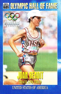 Joan Benoit Olympic Hall of Fame 1996 Sports Illustrated for Kids card