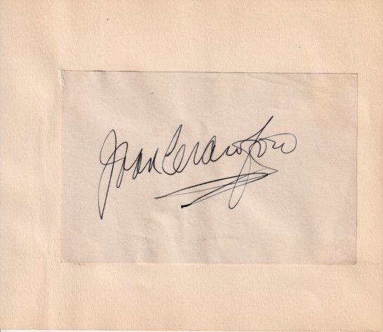 Joan Crawford autographed autograph album or book page (JSA Letter)