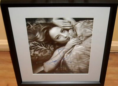 Jodie Foster autographed black and white portrait 11x14 photo matted and framed