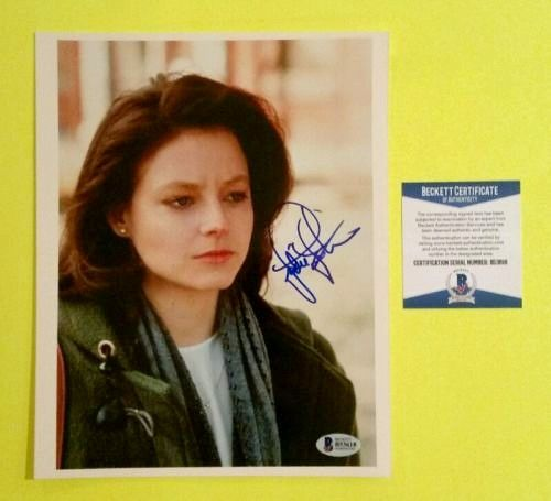 Jodie Foster autographed Silence of the Lambs 8x10 movie photo (BAS Authenticated)