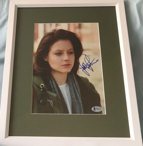 Jodie Foster autographed Silence of the Lambs movie photo matted and framed (BAS authenticated)