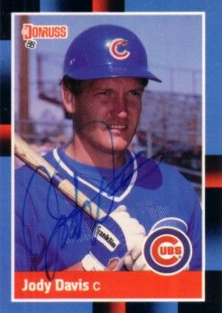 Jody Davis autographed Chicago Cubs 1988 Donruss card