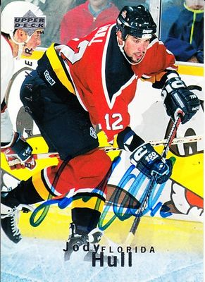 Jody Hull autographed Florida Panthers 1995 Be A Player card