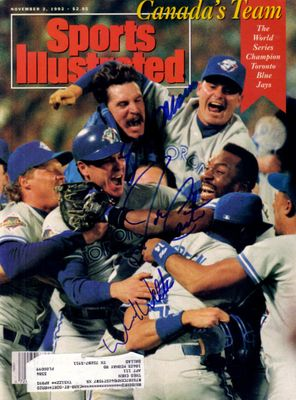 Joe Carter Jack Morris David Wells autographed Toronto Blue Jays 1992 World Series Sports Illustrated