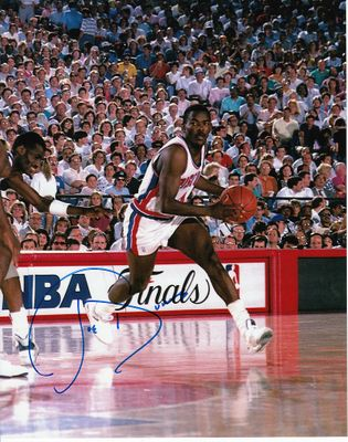 Joe Dumars autographed Detroit Pistons 8x10 photo