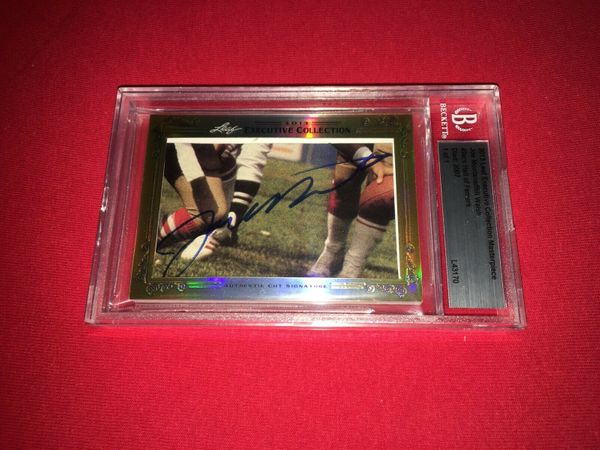 Joe Montana and Bill Walsh 2013 Leaf Masterpiece Cut Signature certified autograph card 1/1 49ers