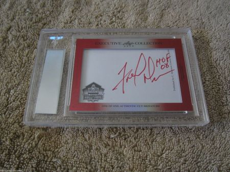 Joe Montana and Fred Dean 2015 Leaf Masterpiece Cut Signature certified autograph card 1/1 49ers JSA