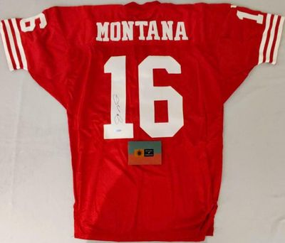 Joe Montana autographed San Francisco 49ers authentic Wilson game model red jersey (UDA)