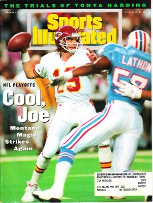 Joe Montana Kansas City Chiefs 1994 Sports Illustrated
