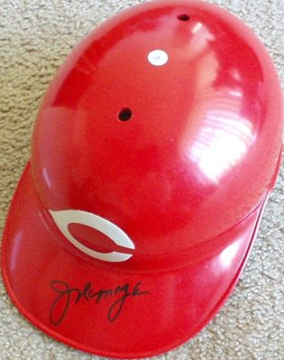 Joe Morgan autographed Cincinnati Reds authentic full size batting helmet