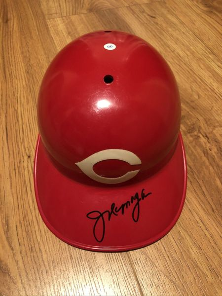 Joe Morgan autographed Cincinnati Reds authentic full size ABC game model batting helmet