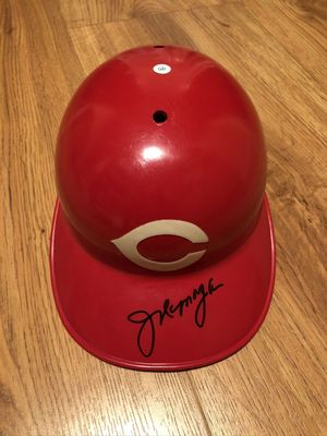 Joe Morgan autographed Cincinnati Reds full size ABC game model batting helmet (JSA)