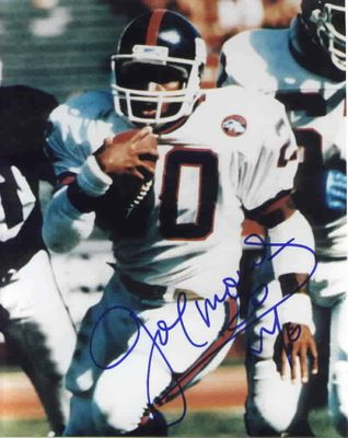 Joe Morris autographed 8x10 New York Giants photo