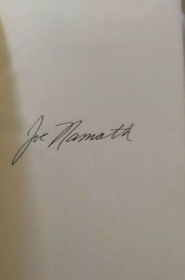 Joe Namath autographed All the Way hardcover first edition book