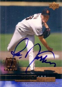 Joe Nathan autographed 2000 Upper Deck card