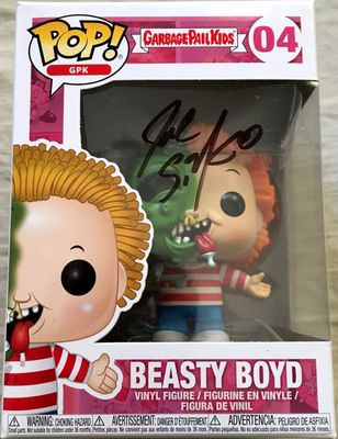 Joe Simko autographed Garbage Pail Kids Beasty Boyd 2018 Funko Pop