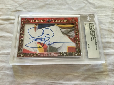 Joe Theismann and Joe Jacoby 2018 Leaf Masterpiece Cut Signature certified autograph card 1/1 JSA