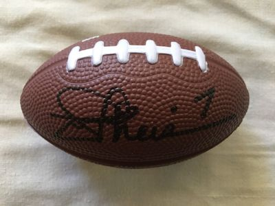 Joe Theismann autographed mini toy foam football