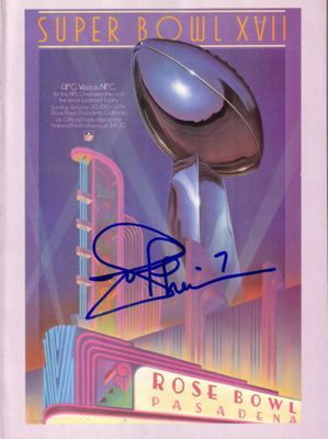 Joe Theismann autographed Super Bowl 17 game program