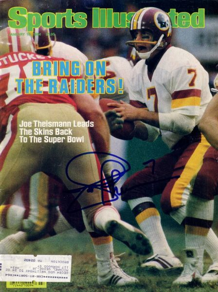 Joe Theismann autographed Washington Redskins 1984 Sports Illustrated