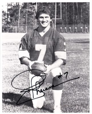 Joe Theismann autographed Washington Redskins 8x10 black and white photo