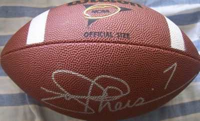 Joe Theismann autographed Wilson NCAA football