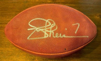 Joe Theismann autographed Wilson NFL game model leather football