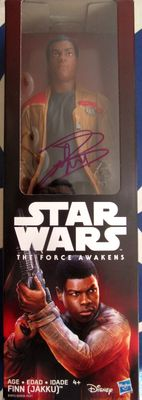 John Boyega autographed Star Wars The Force Awakens movie Finn action figure (JSA)