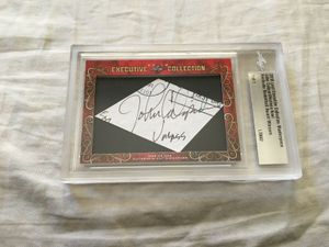 John Calipari and Nerlens Noel 2018 Leaf Masterpiece Cut Signature certified autograph card 1/1 JSA Kentucky