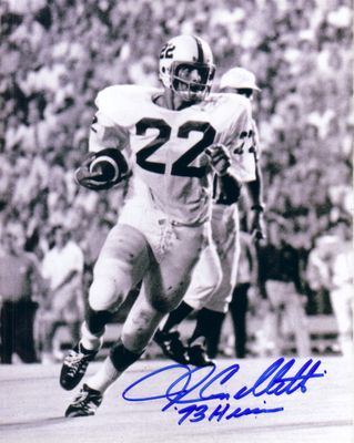 John Cappelletti autographed Penn State 8x10 photo inscribed '73 Heisman