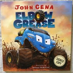 John Cena autographed Elbow Grease hardcover children's book