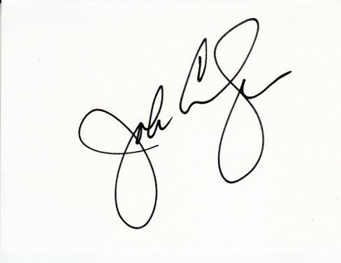 John Congemi autographed 3 1/2 by 5 inch index card