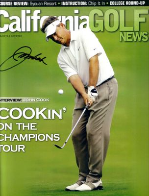 John Cook autographed California Golf News magazine