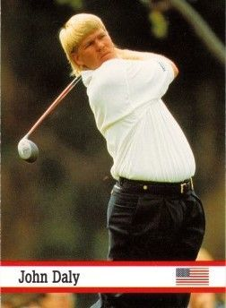 John Daly 1993 Fax Pax golf card