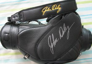 John Daly triple autographed mini authentic golf bag