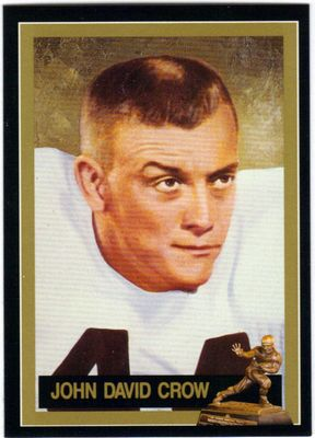 John David Crow Texas A&M Aggies 1957 Heisman Trophy winner card